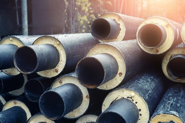Figure 1. Pipes covered with thermal insulation.