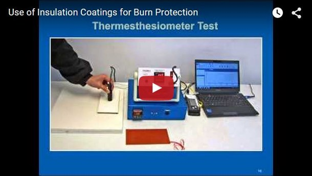Use of Insulation Coatings for Burn Protection