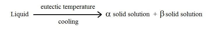 formula for eutectic reaction