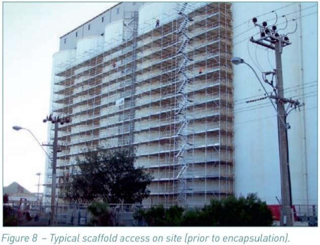 Figure 8. Typical scaffold access on site (prior to encapsulation).
