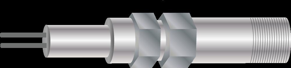 Figure 3. Drawing of a linear polarization resistance (LPR) probe.
