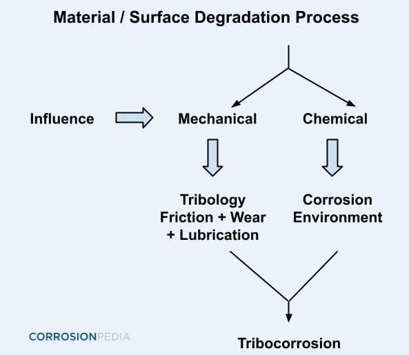Figure 1. Degradation process leading to tribocorrosion.