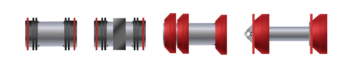 Figure 2. Steel mandrel pigs.