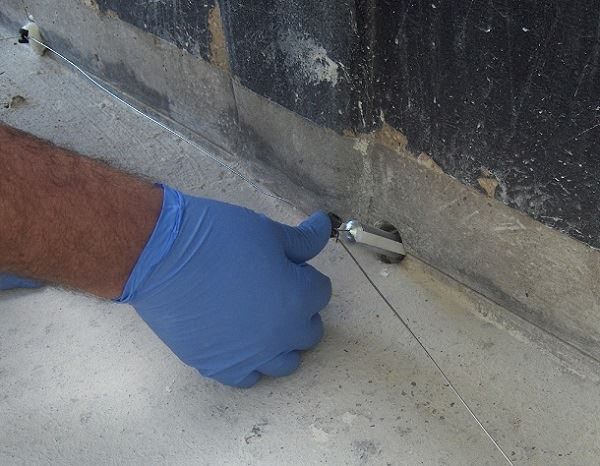 Figure 4. Hybrid anode installation with anodes.