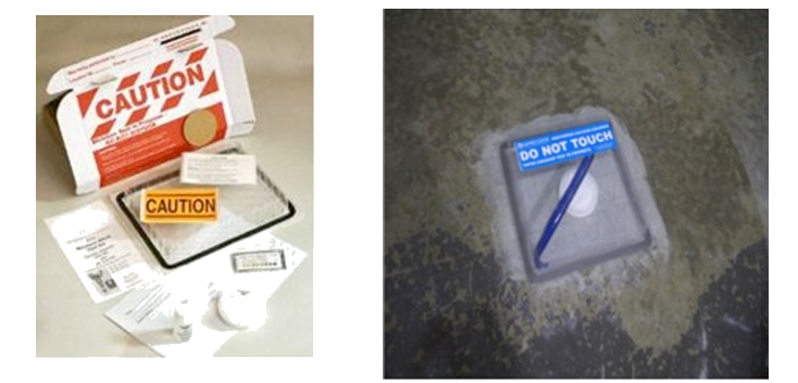 Concrete flooring moisture test kits.