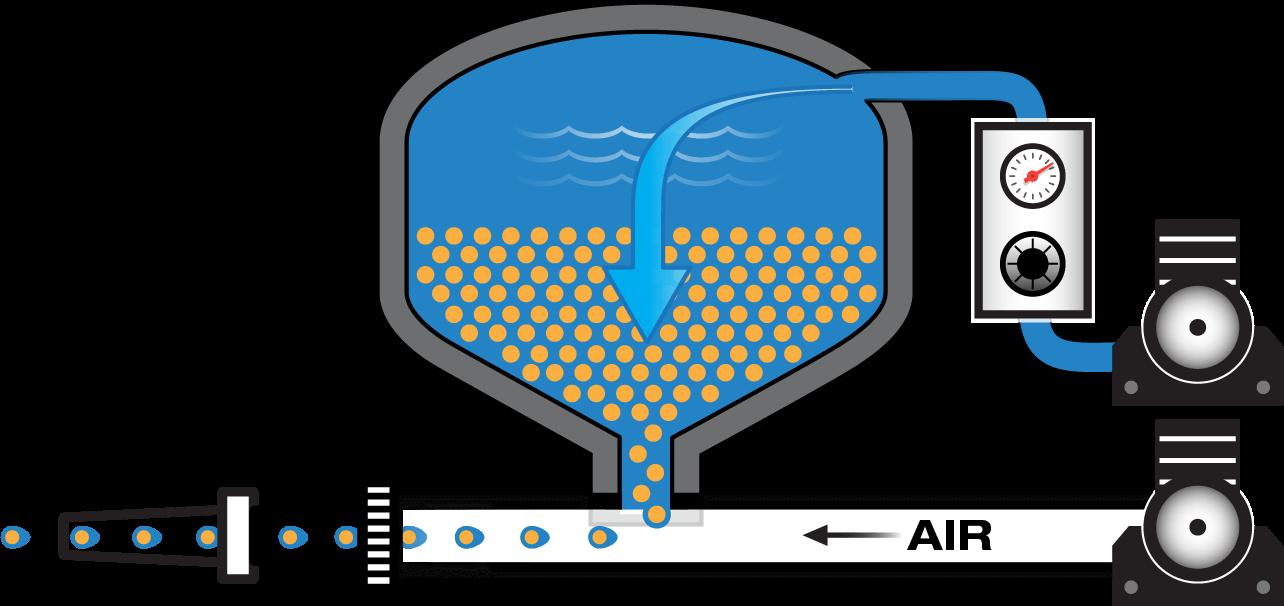 diagram of GRACO Vapor Abrasive blast pot