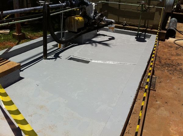 Refurbishment after a sodium hydroxide leak and coating failure at an oil refinery in Brazil.