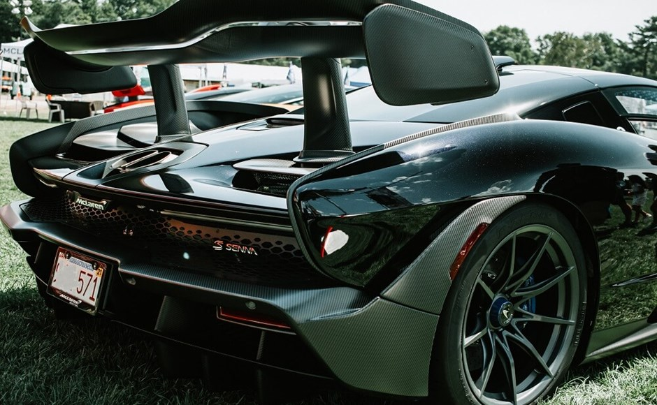 Car made with lightweight carbon fiber composite materials.