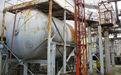 Old rusty corroded process vessel chemical tank