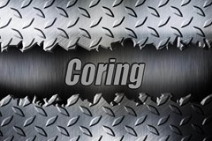 Shiny metal alloy coring