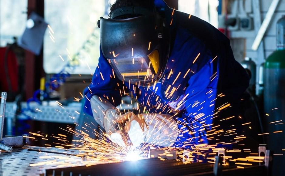 Welder performing a welding operation.