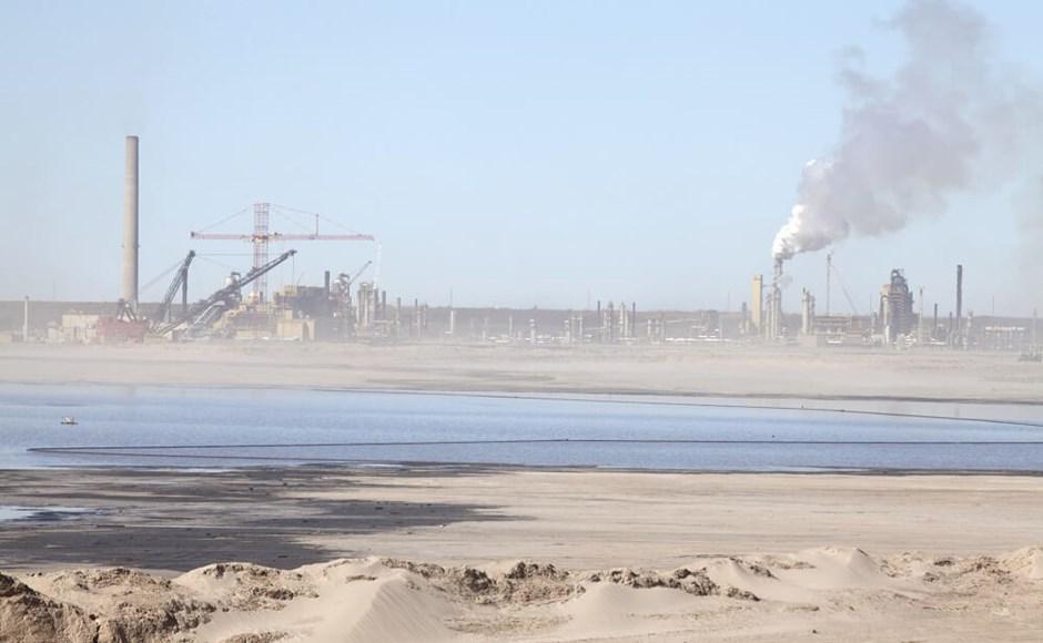 Oil sands in Alberta Canada