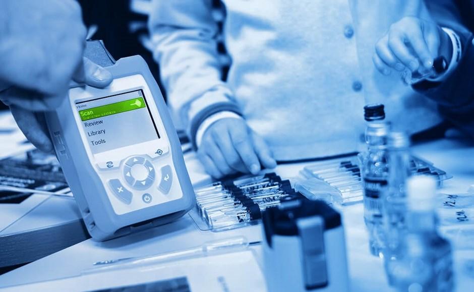 Portable Raman spectrometer.