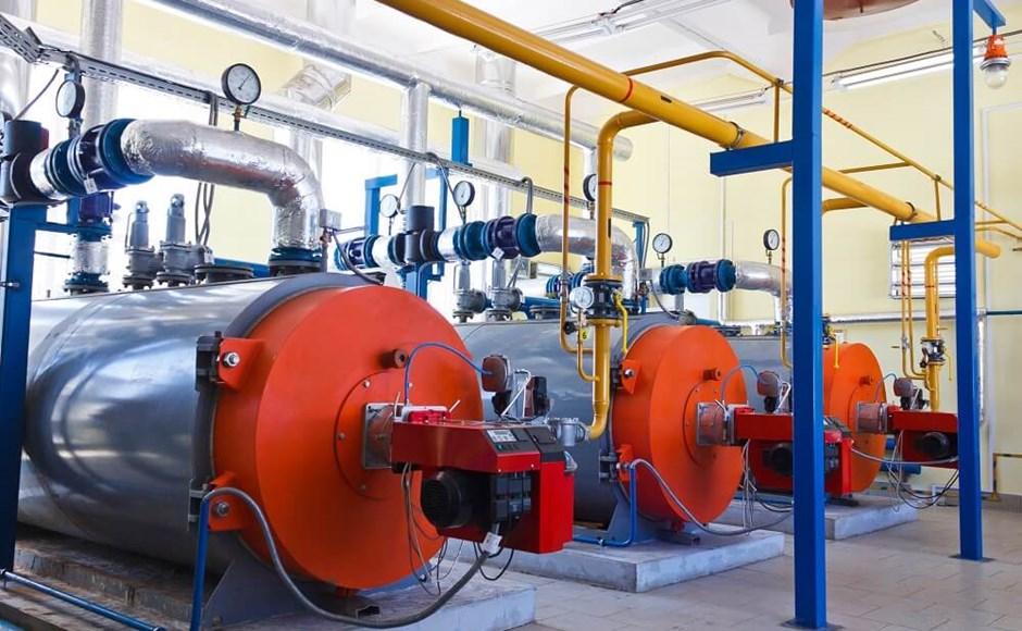 An industrial boiler.