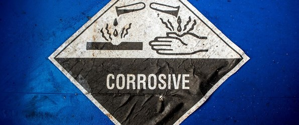 Corrosive label
