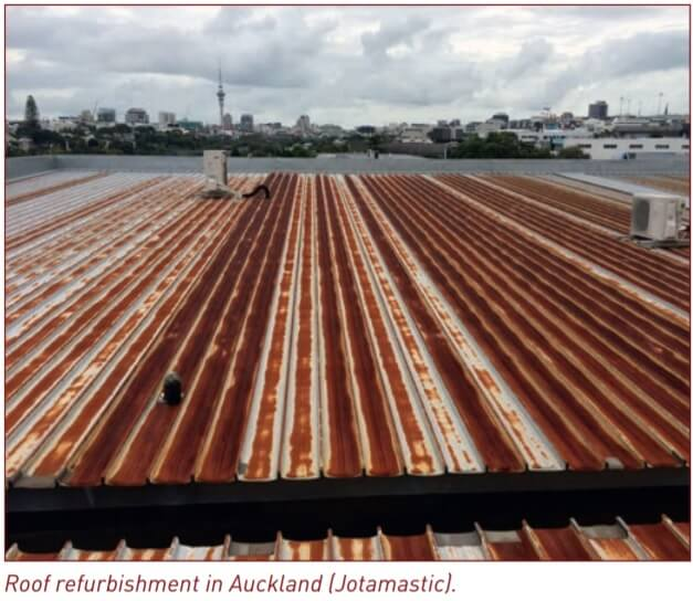 Figure 1. Rusted roof refurbishment.